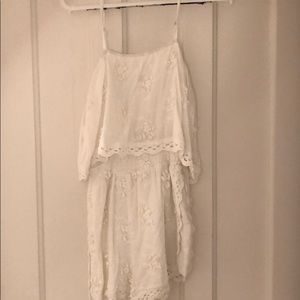 White Flower Romper